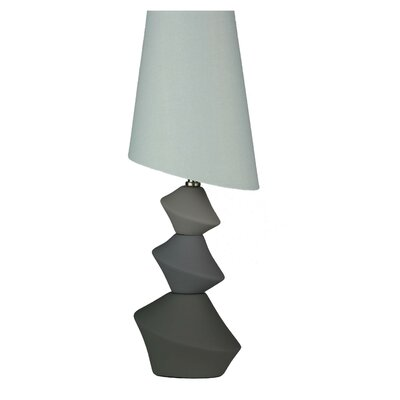 "Cortesi Home LumiRock Asteroid 22"" H Table Lamp with Empire Shade"