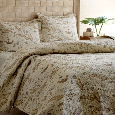 Tommy Bahama Bedding Map Quilt Set
