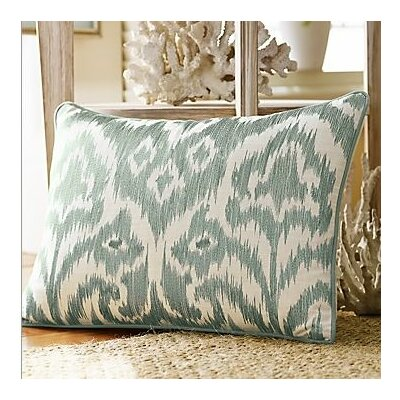 Bamboo Breeze Ikat Embroidered Decorative Pillow