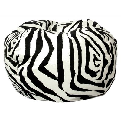 Comfort Research Zebra Bean Bag Chair