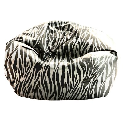 Big Joe SmartMax Zebra Bean Bag Chair