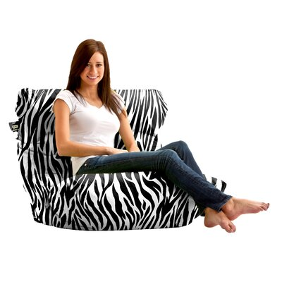 Comfort Research Big Joe Roma Zebra Bean Bag Lounger