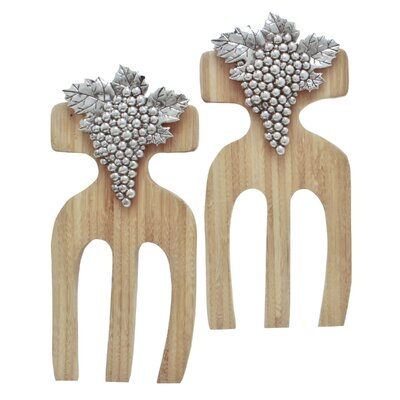 Grapes Bamboo Salad Hands (Set of 2)