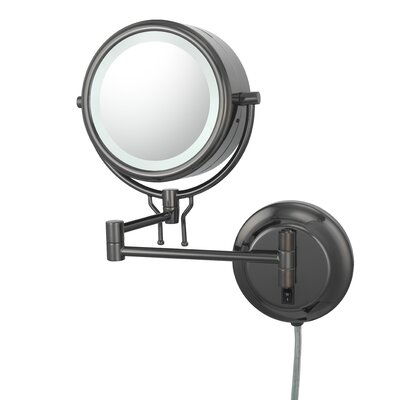 Contemporary Fluorescent Lit Plug-in Wall Mirror