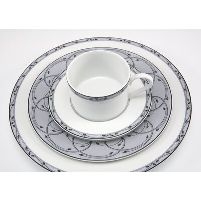 Nikko Ceramics Perennial Gray 5 Piece Place Setting