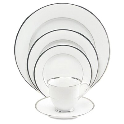 Sentiments Band of Platinum 5 Piece Place Setting