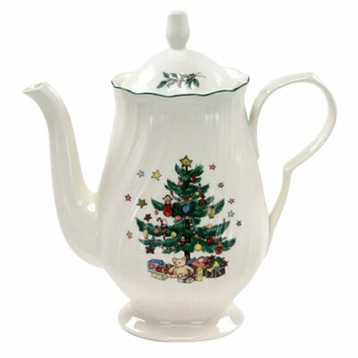 <strong>Nikko Ceramics</strong> Happy Holidays Coffee Pot and Lid