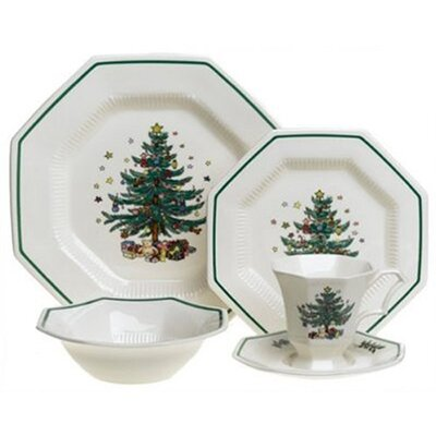 Nikko Ceramics Christmastime 5 Piece Place Setting
