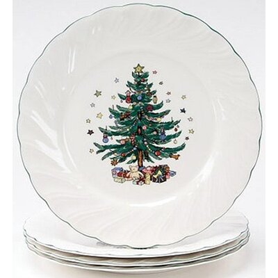 "Nikko Ceramics Happy Holidays 10.5"" Dinner Plate (Set of 4)"