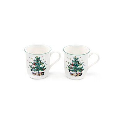 Nikko Ceramics Happy Holidays 9 oz. Mug (Set of 2)