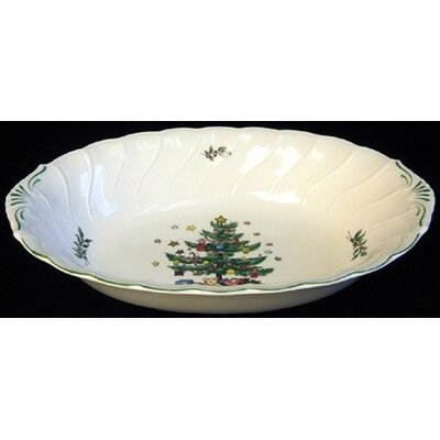 "Nikko Ceramics Happy Holidays 10.5"" Vegetable Bowl"