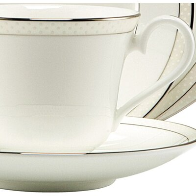 Nikko Ceramics Platinum Beaded Pearl Dinnerware Collection