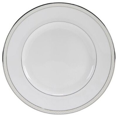 "Nikko Ceramics Platinum Beaded Pearl 8"" Salad Plate"
