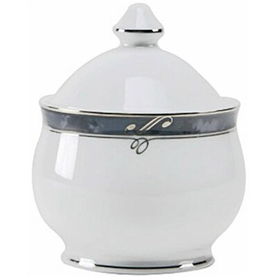Nikko Ceramics Sentiments Moonstone Sugar Bowl with Lid