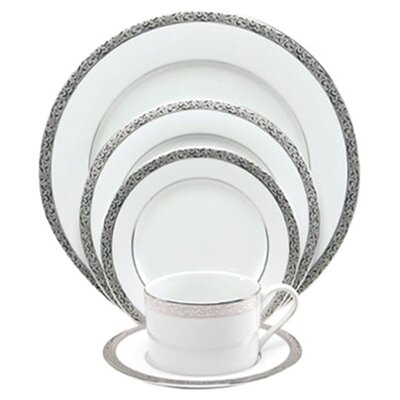 Nikko Ceramics Sentiments Platinum Filigree Dinnerware Set