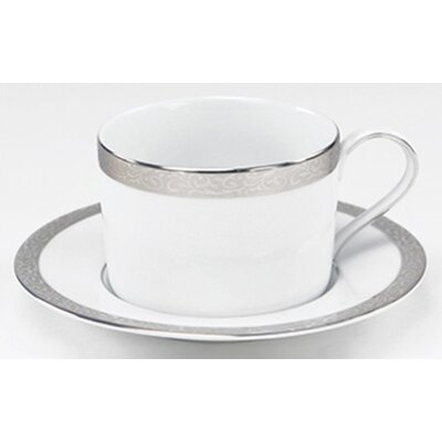 Nikko Ceramics Sentiments Platinum Filigree Saucer