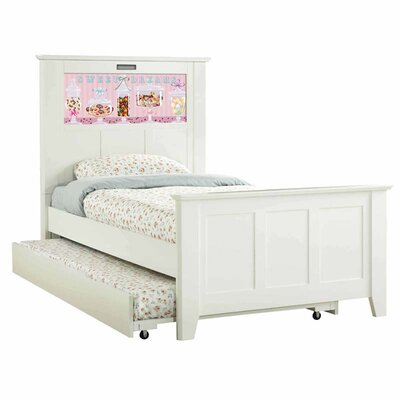 LightHeaded Beds Shaker Twin Panel Bed with Trundle, Dreams and Dolphins Interchangeable HeadLightz