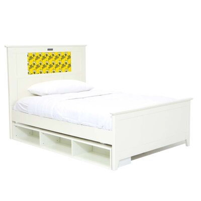 LightHeaded Beds Shaker Full Panel Bed with Storage, Bee and Dolphins Interchangeable HeadLightz
