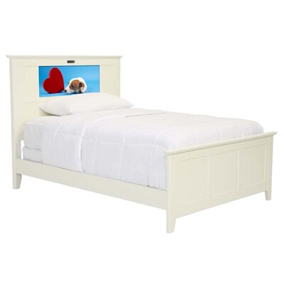 LightHeaded Beds Shaker Full Panel Bed with Puppy and Dolphins Interchangeable HeadLightz