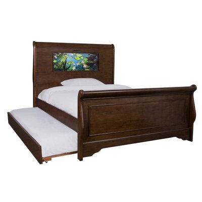 Edgewood Full Sleigh Bed with Trundle, Fish and Dolphins Interchangeable HeadLightz