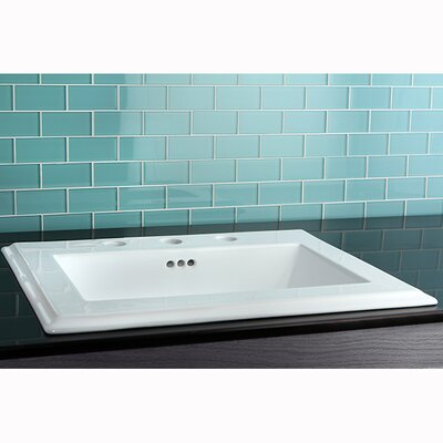 Concord China Countertop Bathroom Sink - LBT23196W34