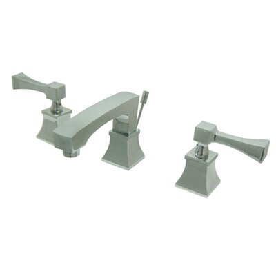 Towne Square Double Handle Widespread Bathroom Faucet with Brass Pop-Up Drain - FS446