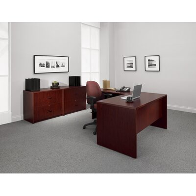 Global Total Office Genoa Single Pedestal Executive Desk