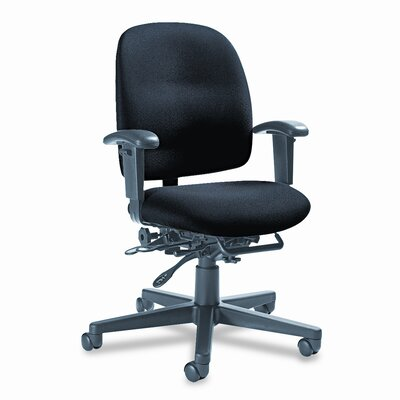 Global Total Office Granada Low-Back Pneumatic Multi Office Chair with Arms and Plain Back