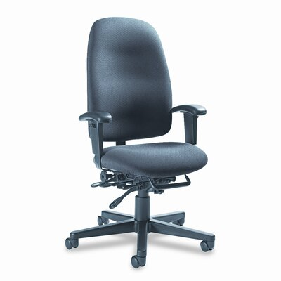 Global Total Office Granada High-Back Pneumatic Multi Tilter with Arms and Plain Back