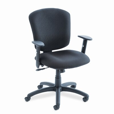Global Total Office Mid-Back Polypropylene Office Chair with Arms