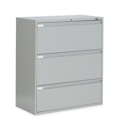 "Global Total Office 9300 Series 36"" W Three-Drawer Lateral File"