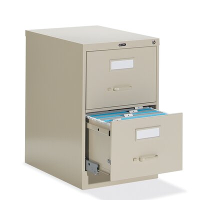 "Global Total Office 25"" D Two-Drawer Vertical Legal File"