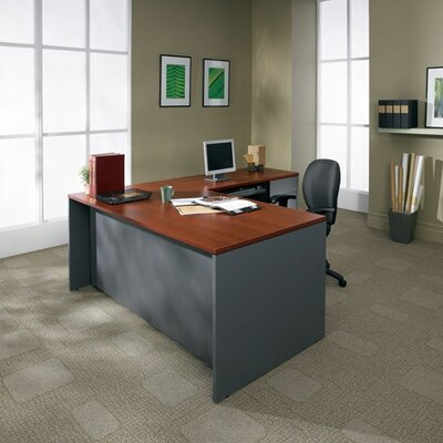 "Global Total Office Adaptabilities 72"" W Single Pedestal Desk"