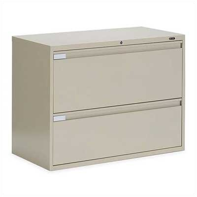 "Global Total Office 9300 Series 42"" W Two-Drawer Lateral File"
