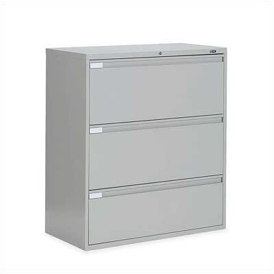 "Global Total Office 9300 Series 42"" W Three-Drawer Lateral File"