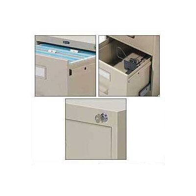 "Global Total Office 9300 Series 36"" Full-Pull Storage Cabinet"