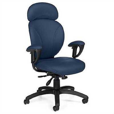 Global Total Office High-Back Leather Synchro-Tilter Office Chair