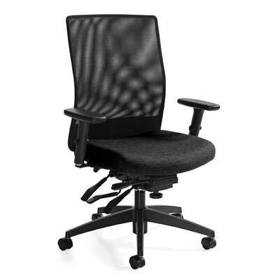 Global Total Office Medium Back Mesh Task Chair with Multi-Tilter