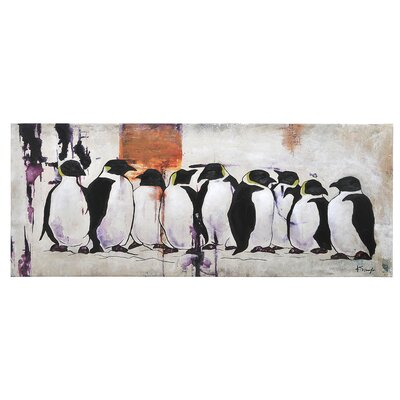 Pingouin by Ksenia Sizaya Painting Print on Canvas
