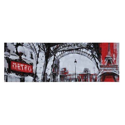 Urban Paris by Giovanni Russo Graphic Art on Canvas