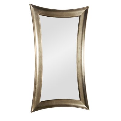 Warped Wall Mirror in Silver Leaf