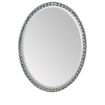 Beveled Wall Mirror with Silver Plating