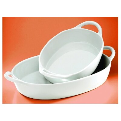 Pillivuyt Eden 80 oz. Small Oval Baker