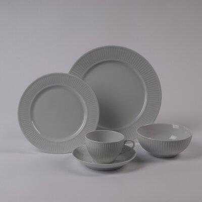 Pillivuyt Plisse Rimless Bowl 5 Piece Dinnerware Collection