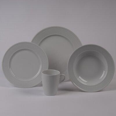 Pillivuyt Plisse Rimmed Bowl 4 Piece Dinnerware Collection