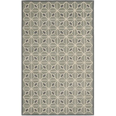 Dark Grey / Charcoal Geometric Rug