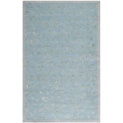 Blue / Grey Floral Rug