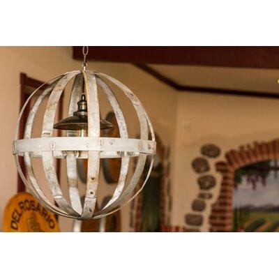 Napa East Collection Wine Hoop 1 Light Globe Chandelier