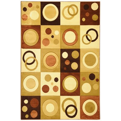Moderno Brown Abstract Rug
