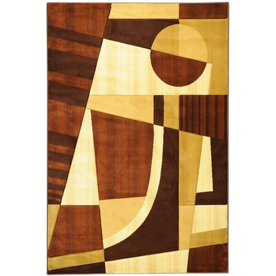 Moderno Dark Brown Abstract Rug